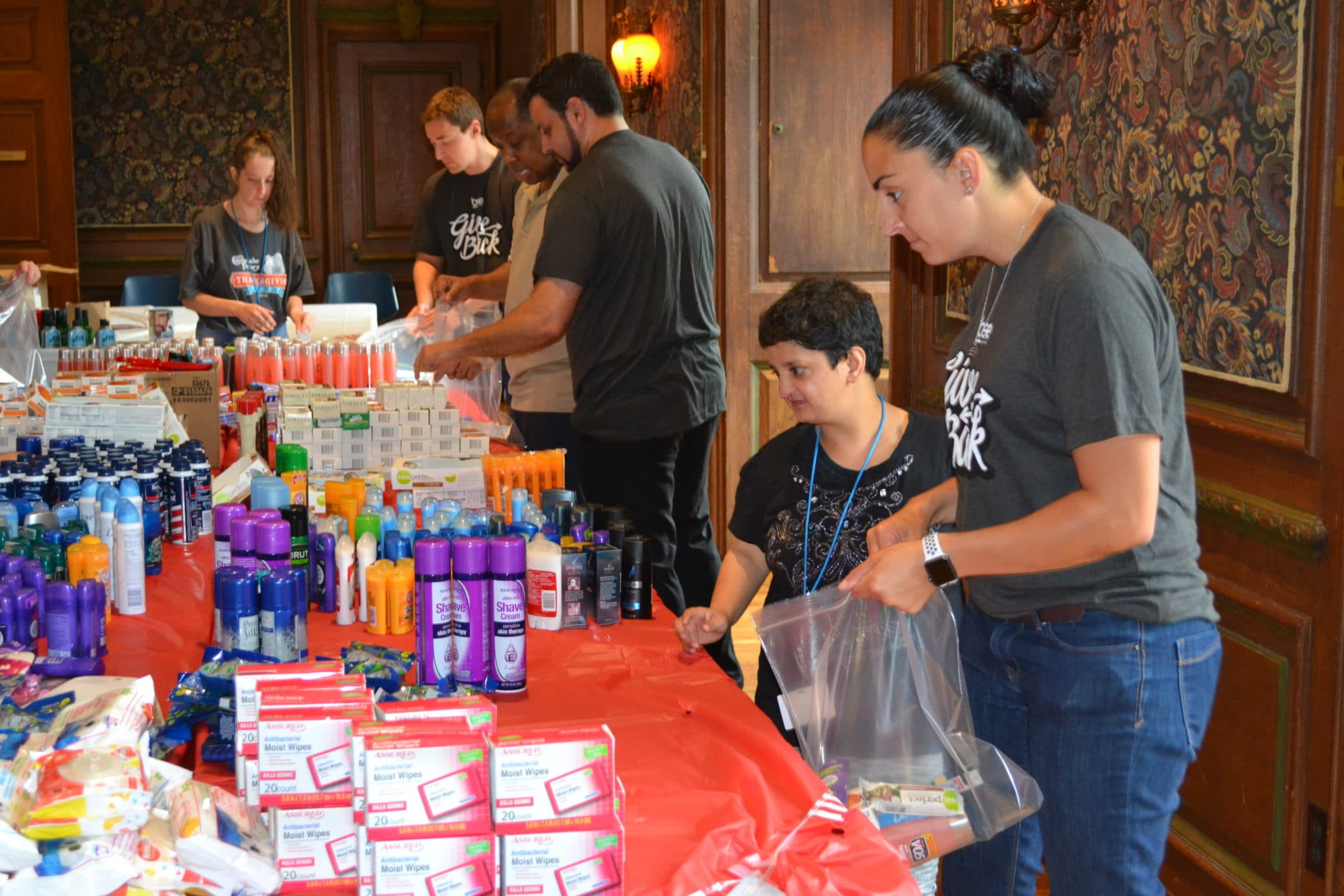 BSE Global and AHRC Nassau Day Hab put together care packages for local veterans