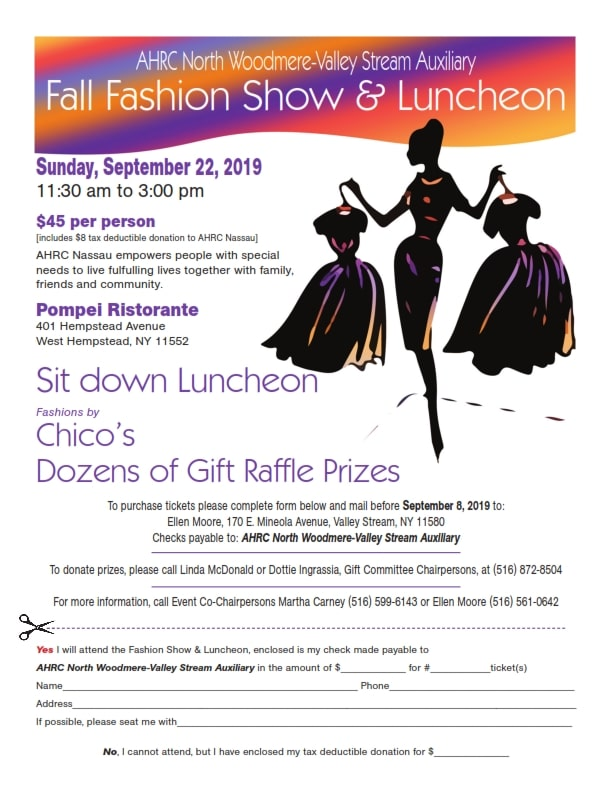 North Woodmere/Valley Stream Fall Fashion Show @ Pompei Ristorante | West Hempstead | New York | United States