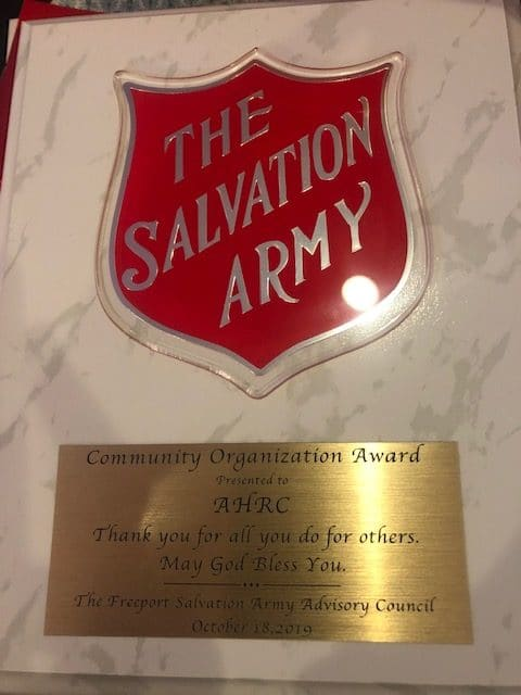 Plaque of Excellene from the Salvation Army