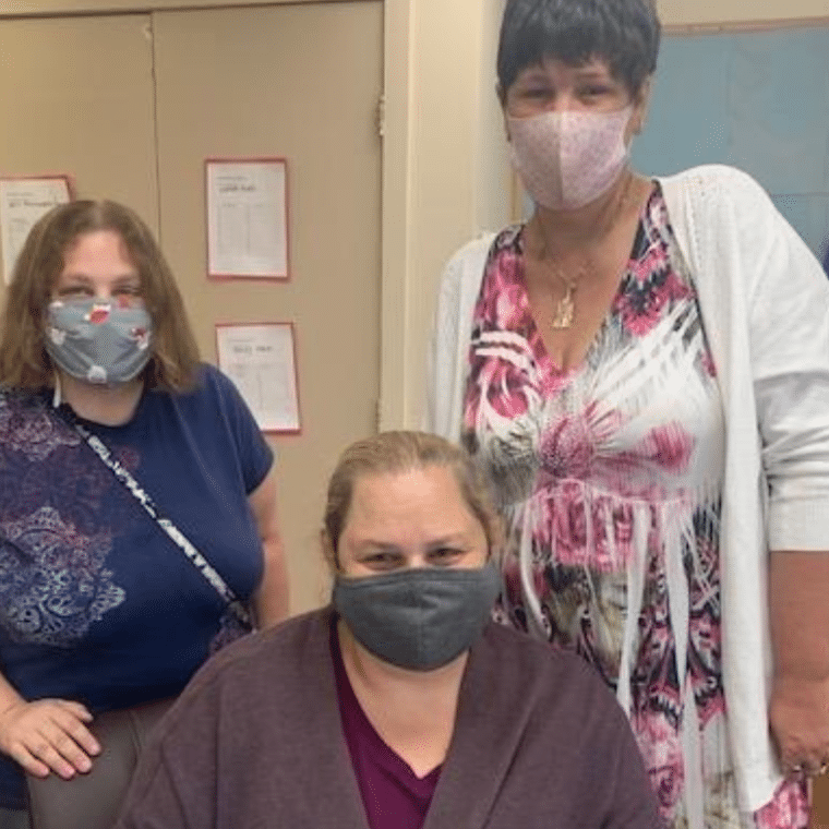 """DSP Krystie Damsker with Emily Storz and Kim Cutrone. When asking Emily what she thinks of Krystie, Emily said, """"I think she is a wonderful staff member because she is helpful, respectful and doesn't have a mean bone in her body."""""""