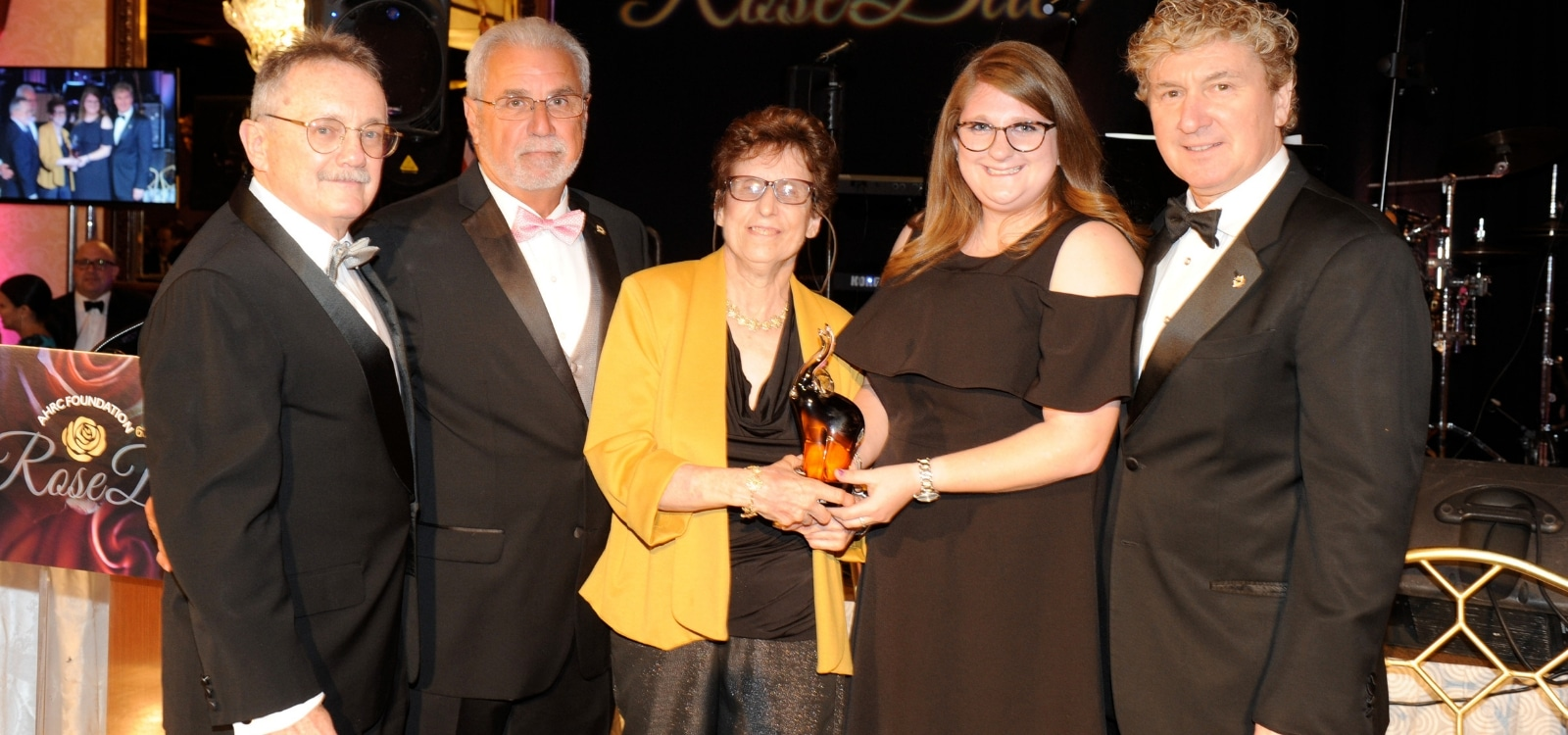 The Blanche Fierstein Award honoring excellence in the pursuit of a special education degree is presented to the 2017 Award Recipient at the AHRC Rose Ball.