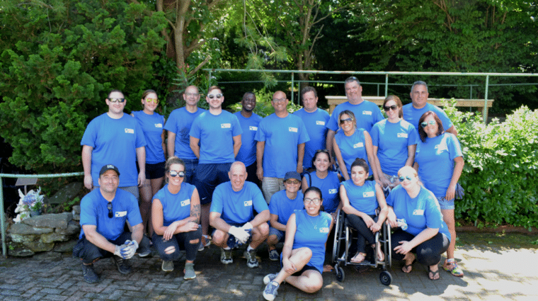 Associated Pension Consultants for volunteering at the historic AHRC Nassau Greenhouse in Brookville