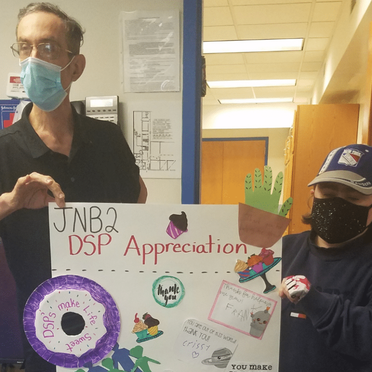 People supported celebrate DSP Appreciation Week with a poster sharing their thanks!