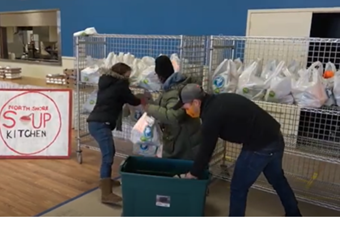 AHRC volunteers support food pantry