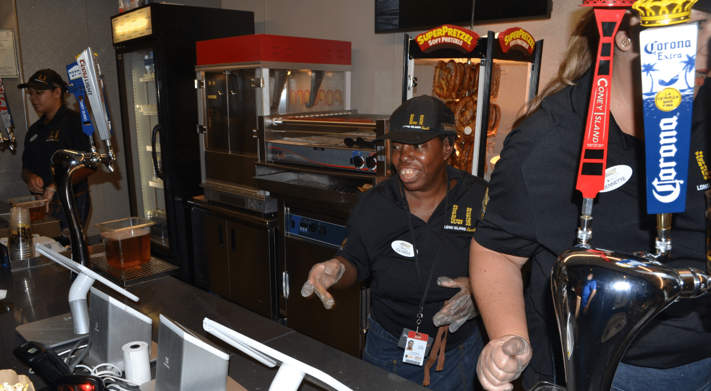 Gloria Waller is enjoying her time at work after bring promoted at Nathan's Famous Concession Stand