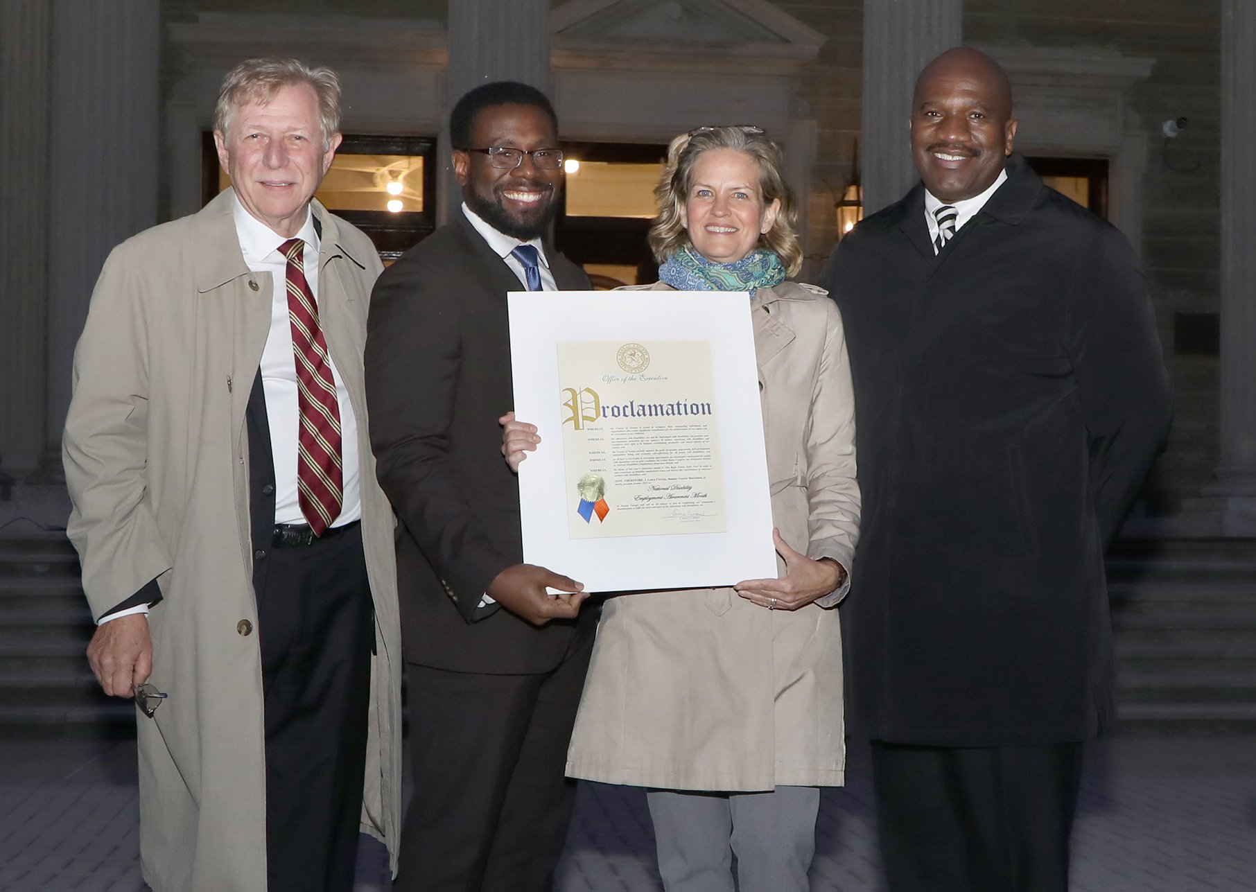 Nassau County Executive Laura Curran presents citation to AHRC Nassau at Dome Lighting Ceremony