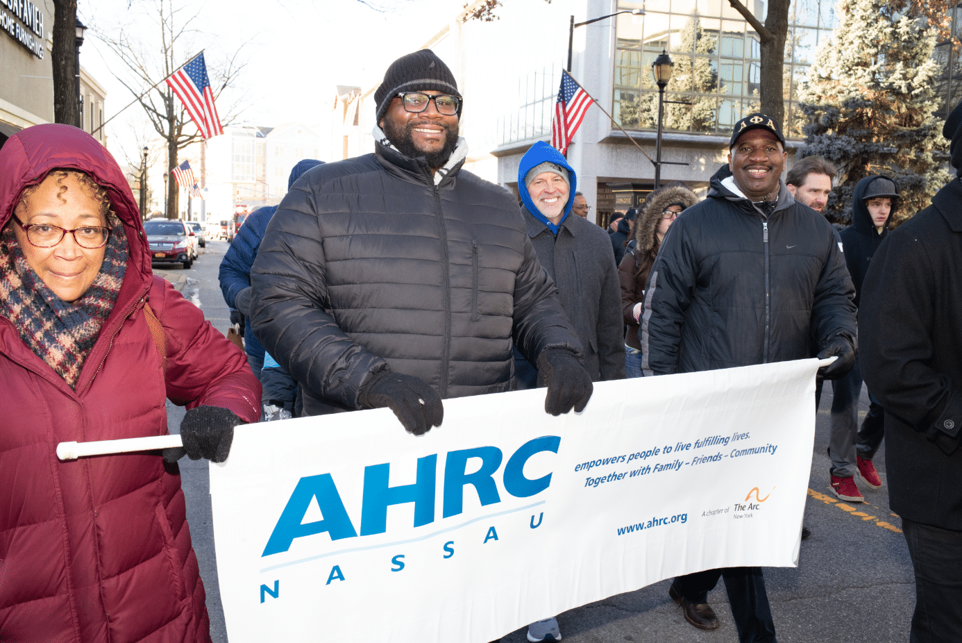 AHRC Nassau families and friends march in the Martin Luther King Jr. Day Parade