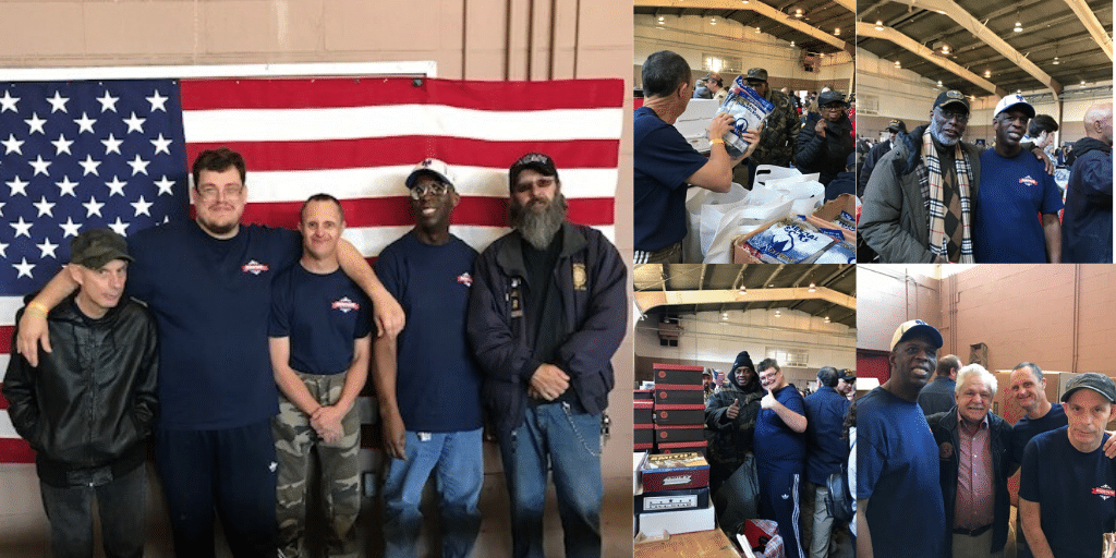 AHRC Nassau volunteers support Veteran Stand Down Event